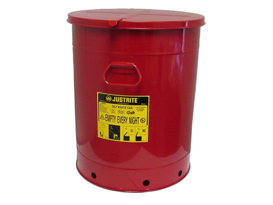Oily Waste Can, 21 gallon (80L), hand-operated cover - SolventWaste.com