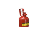 Type I Steel Safety Can with Trigger Handle for flammables, 1 quart (1L), S/S flame arrester, self-close lid - SolventWaste.com
