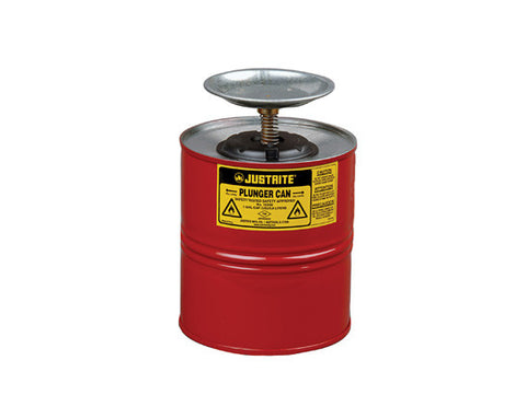 Plunger Dispensing Can, 1 gallon (4L), Steel - SolventWaste.com