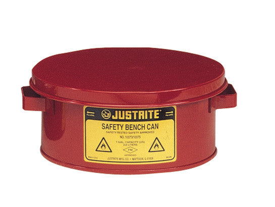 Bench Can for solvents, 1 gallon (4L), Steel - SolventWaste.com