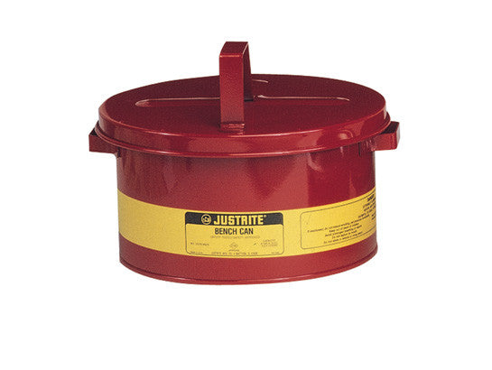 Bench Can for solvents, 2 gallon (8L), Steel - SolventWaste.com