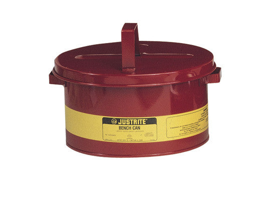 Bench Can for solvents, 3 gallon (L), Steel - SolventWaste.com