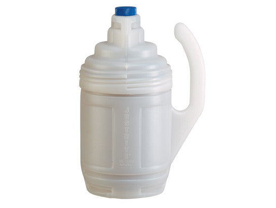Bottle Jacket for 1-gallon glass chemical bottles in laboratory use, translucent polyethylene - SolventWaste.com