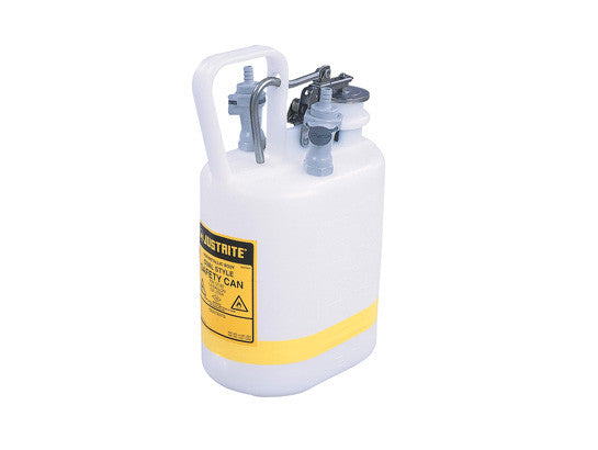 "Oval Quick-Disconnect Disposal Can, polypropylene fittings for 3/8"" tubing, 1 gallon, poly - SolventWaste.com"