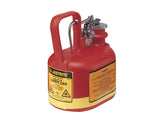 Oval Safety Can for flammables, S/S hardware, flame arrester, .5 gallon, self-close cap, poly - SolventWaste.com
