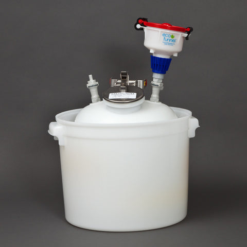 "4"" ECO Funnel System, 5 gallon with Stainless Steel Quick Disconnect - SolventWaste.com"