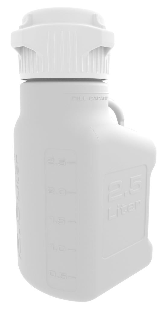 2.5L HDPE Carboy with 83mm Cap - SolventWaste.com
