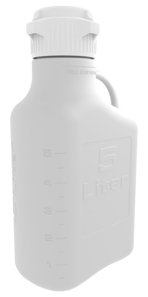5L HDPE Carboy with 83mm Cap - SolventWaste.com