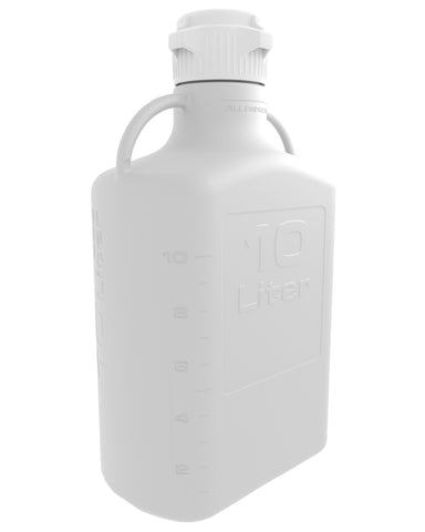 10L HDPE Carboy with 83mm Cap - SolventWaste.com