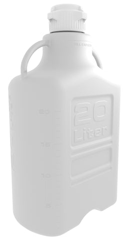 20L HDPE Carboy with 83mm Cap - SolventWaste.com