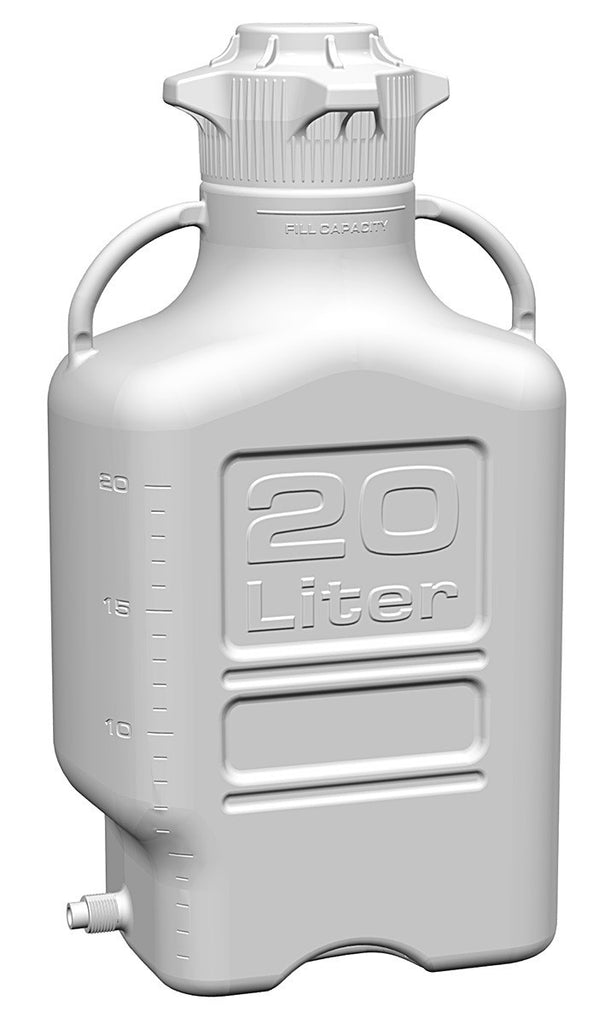20L HDPE Carboy with 120mm Cap with Spigot - SolventWaste.com