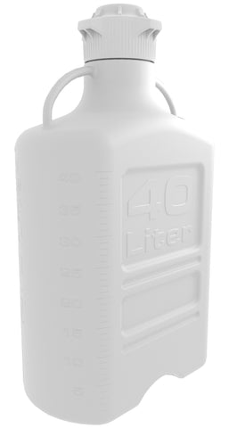40L HDPE Carboy with 120mm Cap - SolventWaste.com