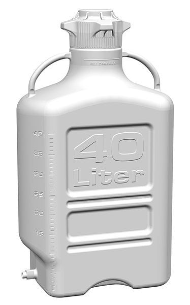 40L HDPE Carboy with 120mm Cap and Spigot - SolventWaste.com