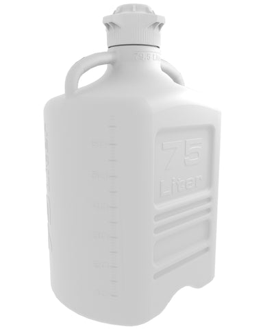 75L HDPE Carboy with 120mm Cap - SolventWaste.com