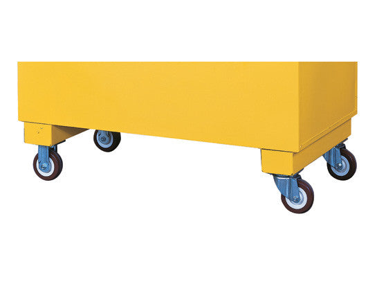 Casters for Safesite™ safety/storage chest, heavy-duty set of 4, 2000-lb. load capacity, 2 locking - SolventWaste.com