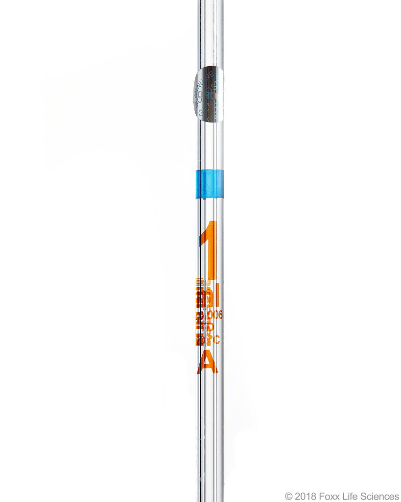 Borosil Volumetric Transfer Pipette Bulb Pipette Class A Accuracy ASTM 969 USP Type I - 1mL - SolventWaste.com