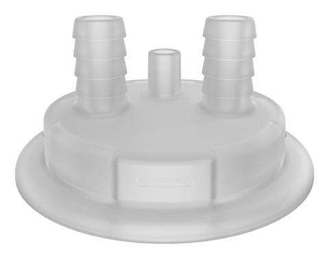 "VersaCap® 53mm Molded Dual 1/2"" HB with Vent Adapter Insert - SolventWaste.com"