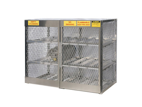 Cylinder locker for safe storage of 12 horizontal 20 or 33-lb. LPG cylinders - SolventWaste.com