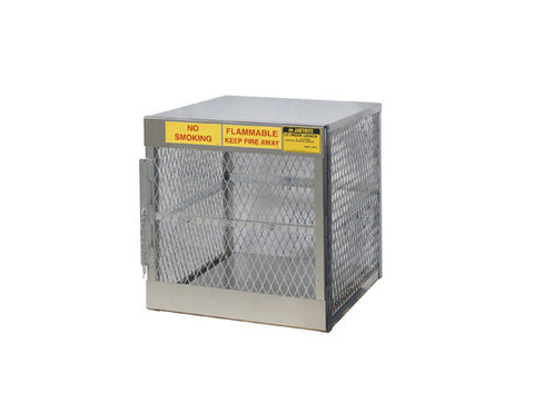 Cylinder locker for safe storage of 4 vertical 20 or 33-lb. LPG cylinders - SolventWaste.com