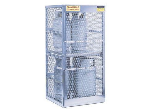 Cylinder locker for safe storage of 8 vertical 20 or 33-lb. LPG cylinders - SolventWaste.com