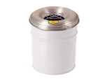 Cease-Fire® Ash and Cigarette Butt Receptacle Drum with Aluminum Head w/Grill Guard, 6 gallon (23L) - SolventWaste.com