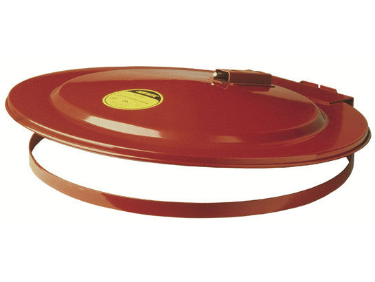 Drum Cover with Fusible Link for 55-gallon (200L) drum, self-close, steel - SolventWaste.com