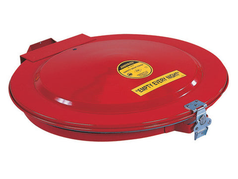 Drum Cover with Vent and Gasket for 55-gallon (200L) drum, manual-close, steel - SolventWaste.com