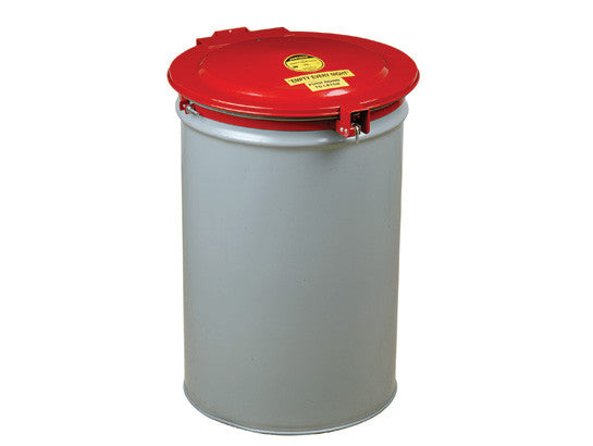 Drum Cover with Vent and Gasket for 55-gallon (200L) drum, self-close, steel - SolventWaste.com