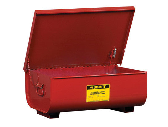 Rinse Tank, Benchtop, 11 gallon, lift-and-latch cover with fusible link, drain plug, Steel - SolventWaste.com
