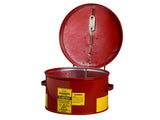 Dip Tank for cleaning parts, 1 gallon, manual cover w/fusible link in case of fire, Steel - SolventWaste.com