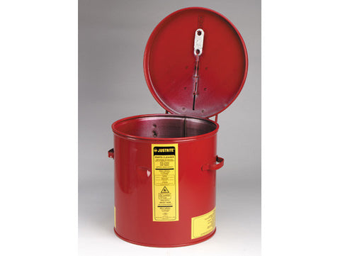 Dip Tank for cleaning parts, 2 gallon, manual cover w/fusible link, optnl parts basket, Steel - SolventWaste.com