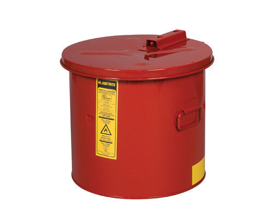 Dip Tank for cleaning parts, 5 gallon, manual cover w/fusible link, optional parts basket, Steel - SolventWaste.com