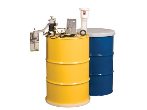 Aerosolv® Dual Compliant System for recycling aerosol cans, puncturing unit, filter, wire, counter, and goggles - SolventWaste.com