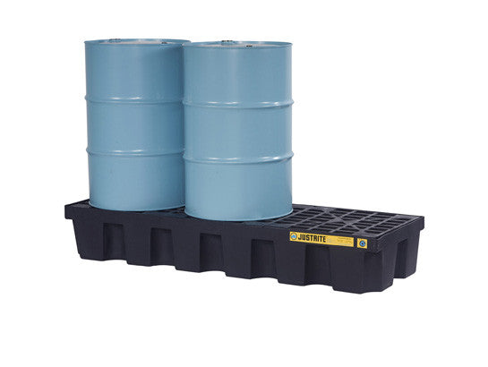 EcoPolyBlend™ Spill Control Pallet, 3 drum, recycled polyethylene - SolventWaste.com