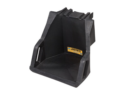 EcoPolyBlend™ Drum Management Dispensing Shelf mounts to Stack Module, 100% recycled poly, Black - SolventWaste.com