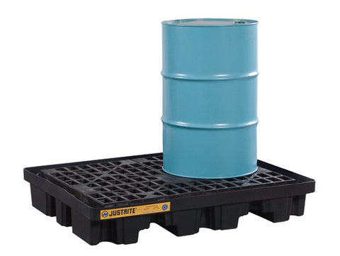 EcoPolyBlend™ Low Line Pallet, 2 Drum, 100% recycled polyethylene, Black - SolventWaste.com