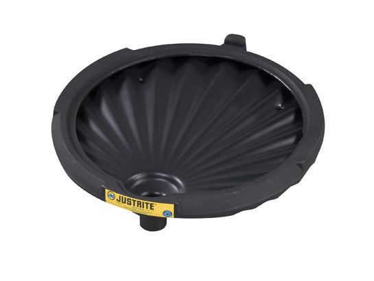 EcoPolyBlend™ Funnel for non-flammables for 30 and 55-gallon drums, 100% recycled content, Black - SolventWaste.com