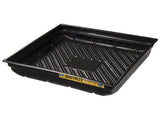 "EcoPolyBlend™ Spill Tray, Dims 37-3/4""W x 34""D x 5-1/2""H, indoor or outdoor use, rigid poly, Black - SolventWaste.com"