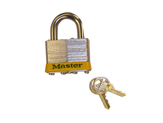 "Padlock Master Lock® No. 5 with 3/8"" shackle for lockable safety cabinets - SolventWaste.com"