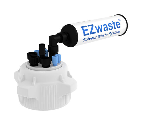 "EZWaste® HD Filter Kit, VersaCap® 83B , 4 ports for 1/8"" OD Tubing, 3 port for 1/4"" OD Tubing, 1 port for 1/4"" HB or 3/8""HB - SolventWaste.com"