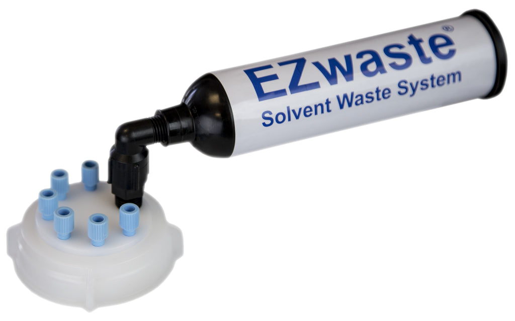"EZWaste® UN/DOT Filter Kit, VersaCap® 70S, 6 ports for 1/8"" OD Tubing - SolventWaste.com"