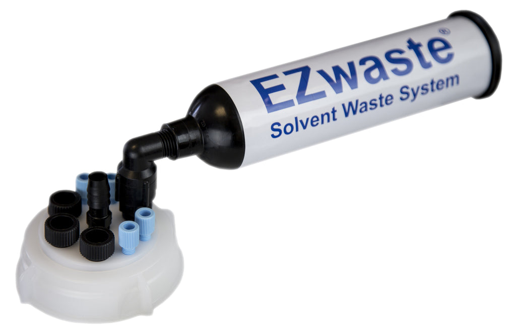 "EZWaste® UN/DOT Filter Kit, VersaCap® 70S, 4 ports for 1/8"" OD Tubing, 3 port for 1/4"" OD Tubing, 1 port for 1/4"" HB or 3/8"" HB Adapter - SolventWaste.com"