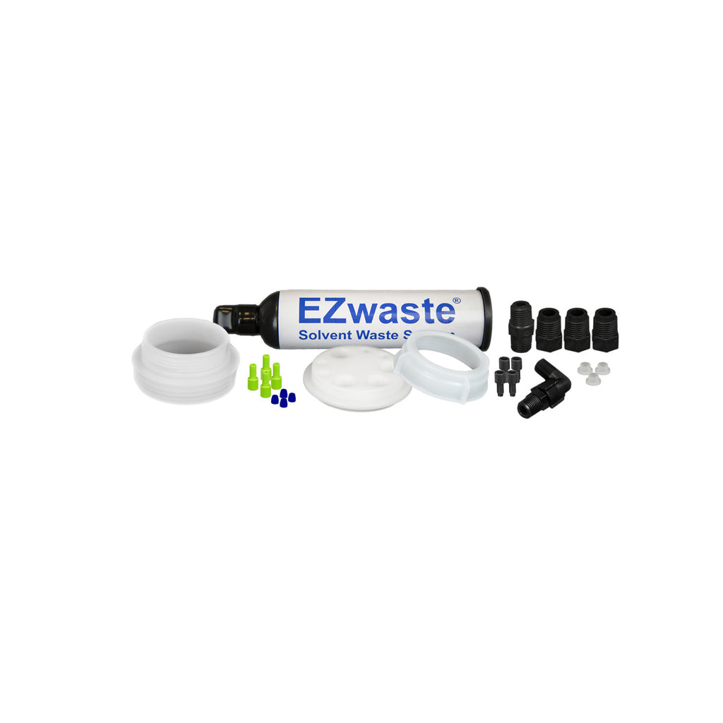 "EZWaste® UN/DOT Filter Kit, VersaCap® 70S w/ Threaded Adapter, 4 Ports for 1/16"" OD Tubing, 3 Ports for 1/4"" OD Tubing - SolventWaste.com"