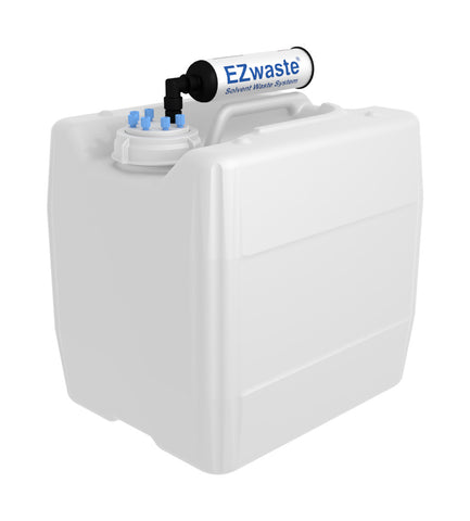 "EZwaste® UN/DOT Filter Kit, VersaCap® 70S , 6 ports for 1/8"" OD Tubing with 13.5L Container - SolventWaste.com"