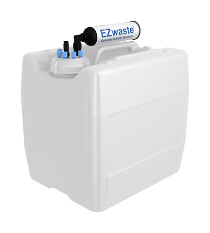 "EZwaste® UN/DOT Filter Kit, VersaCap® 70S , 6 ports for 1/8"" OD Tubing, 1 port for 1/4"" HB or 3/8"" HB with 13.5L Container - SolventWaste.com"