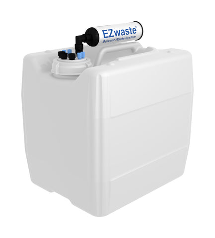 "EZwaste® UN/DOT Filter Kit, VersaCap® 70S , 4 ports for 1/8"" OD Tubing, 3 ports for 1/4"" OD Tubing with 13.5L Container - SolventWaste.com"