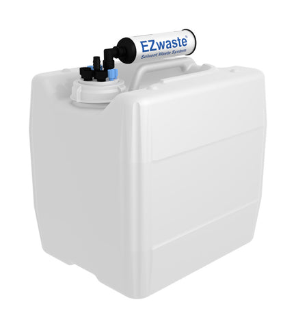 "EZwaste® UN/DOT Filter Kit,  VersaCap® 70S , 4 ports for 1/8"" OD Tubing, 3 port for 1/4"" OD Tubing, 1 port for 1/4"" HB or 3/8""HB with 13.5L - SolventWaste.com"