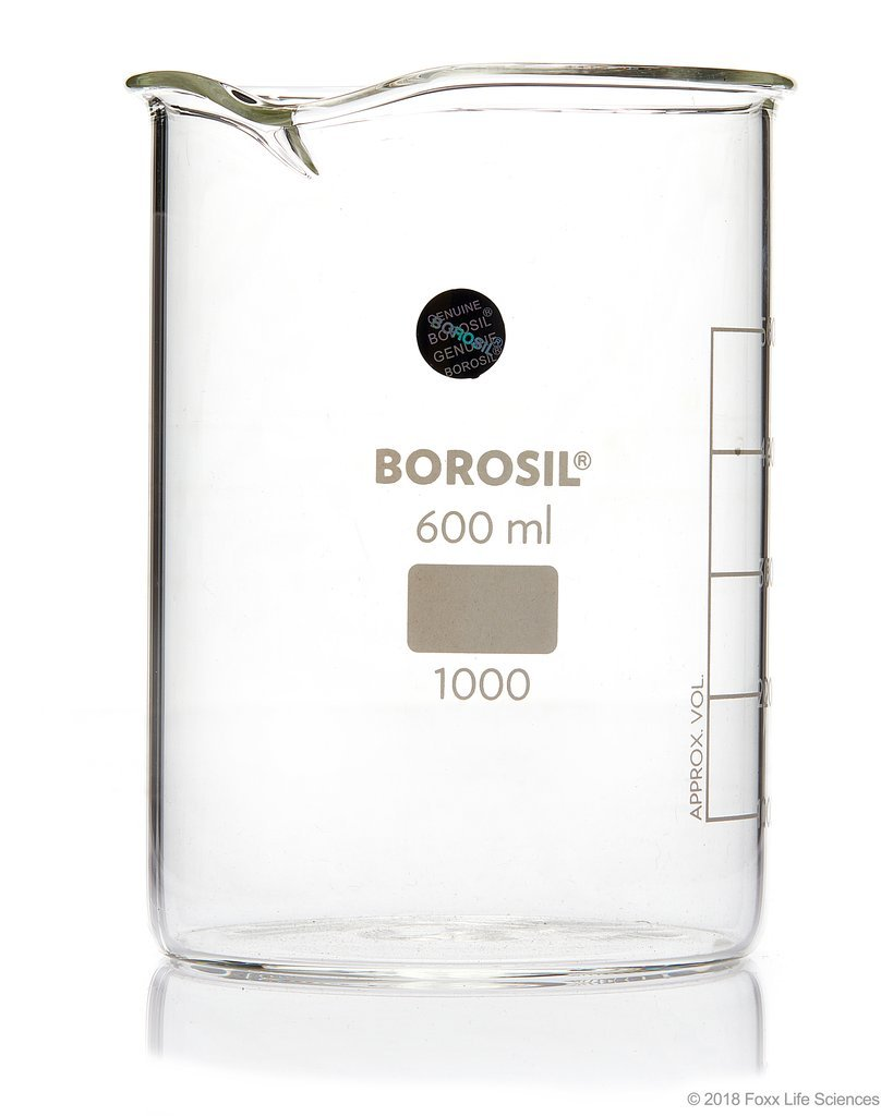 Borosil® Low Form Griffin Beaker with Spout 10000 mL ISO3834 Borosilicate - SolventWaste.com