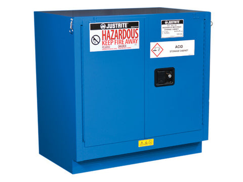 ChemCor® Undercounter Hazardous Material Safety Cabinet, Cap. 22 gal, 1 shlf, 2 s/c drs - SolventWaste.com