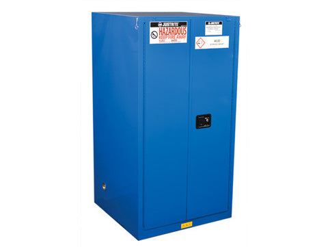 ChemCor® Hazardous Material Safety Cabinet, Cap. 60 gal., 2 shelves, 2 self-close doors - SolventWaste.com